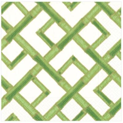 Caspari Cocktail Napkin - Bamboo Green