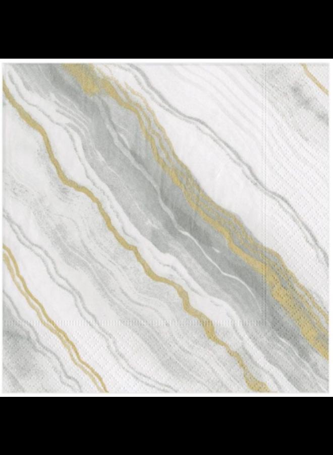 Cocktail Napkin - Marble Grey