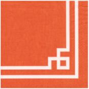Caspari Luncheon Napkin - Rive Gauche Orange