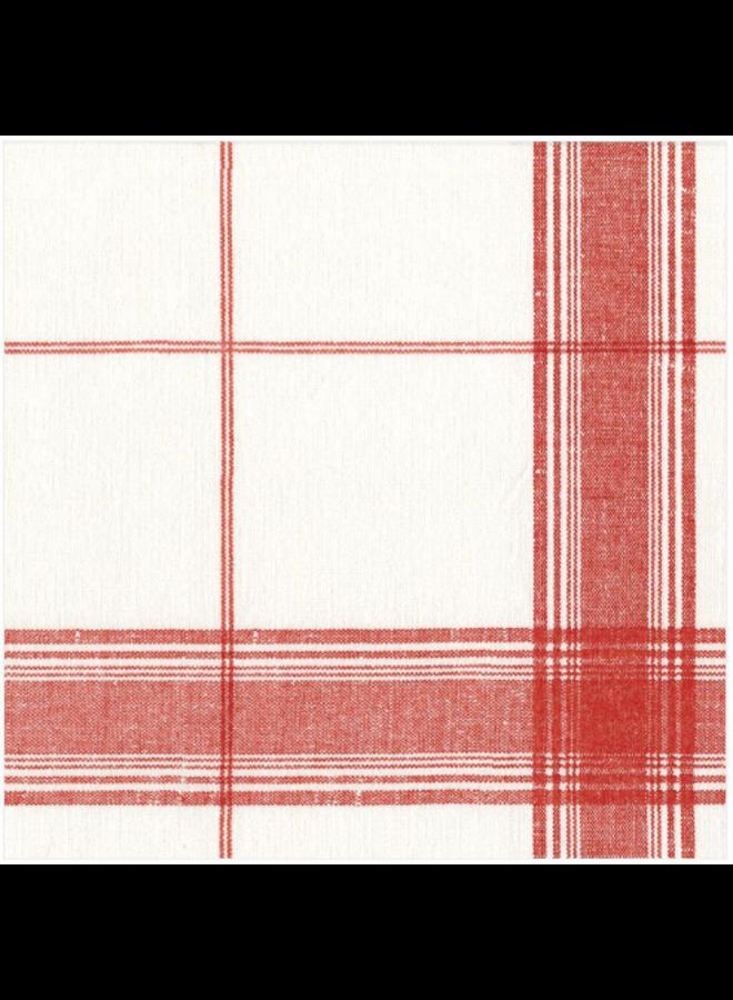 Luncheon Linen Napkin - Belgian Linen Red