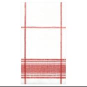 Caspari Guest Towel - Belgian Linen Red