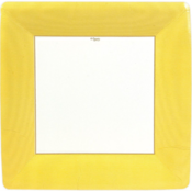 Caspari Dinner Plate - Yellow