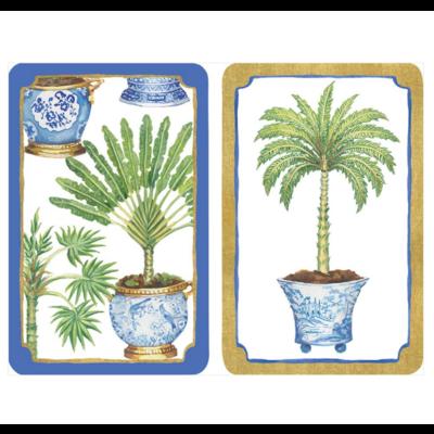 Caspari Bridge Playing Cards - Potted Palms