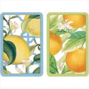 Caspari Bridge Playing Cards - Citrus