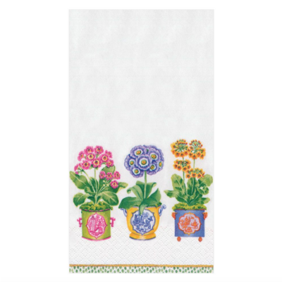Caspari Guest Towel - Primroses