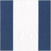 Caspari Luncheon Napkin - Bandol Stripe Navy