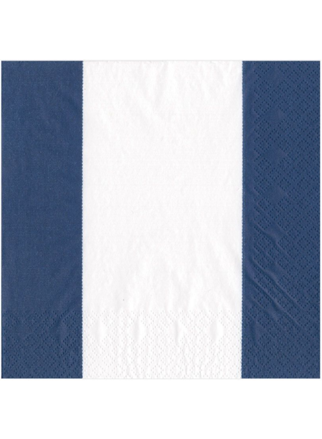 Luncheon Napkin - Bandol Stripe Navy