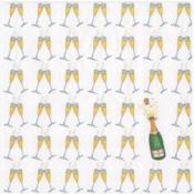Caspari Cocktail Napkin - Bubbly