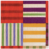 Caspari Cocktail Napkin - Striped Patchwork Purple