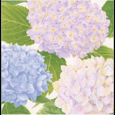 Caspari Cocktail Napkin - Hydrangea Garden Lavender