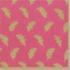 Caspari Cocktail Napkin - Leaves of Gold - Fuchsia