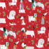 Caspari Wrapping Paper Christmas Canines