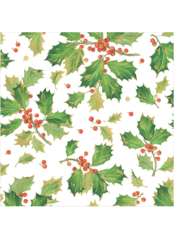 Wrapping paper - Gilded Holly