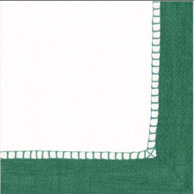 Caspari Luncheon Napkin - emerald