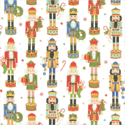 Caspari Wrapping Paper Nutcracker