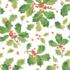 Caspari Wrapping Paper Gilded Holly White