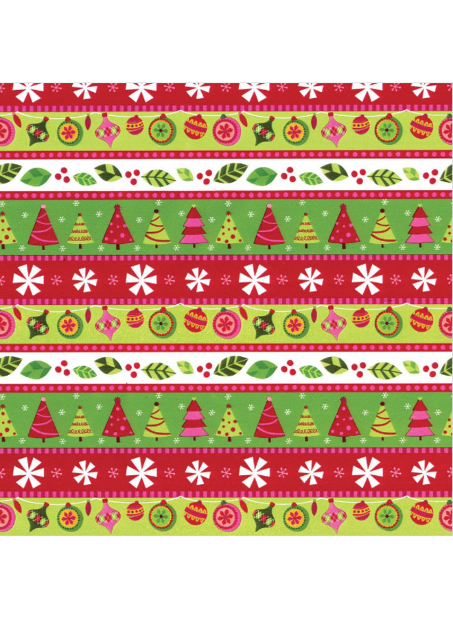 Wrapping Paper Calico Ornaments