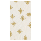 Caspari Guest Towel - Starry Ivory