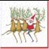 Caspari Luncheon Napkin - Santa's Kickettes