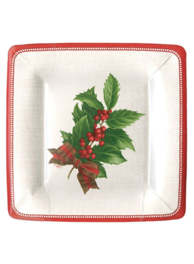 Salad Plate - Holly Linen Ivory