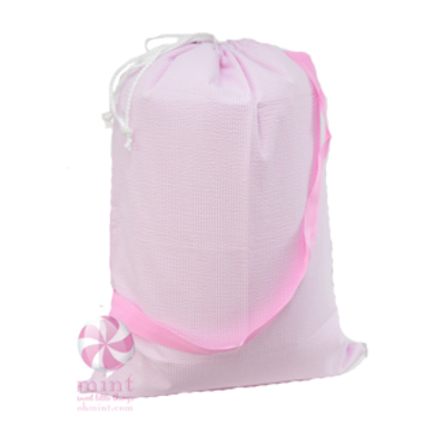 Mint Seersucker Catch-All Bag