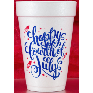 Print Appeal Foam Cups - Happy Fourth