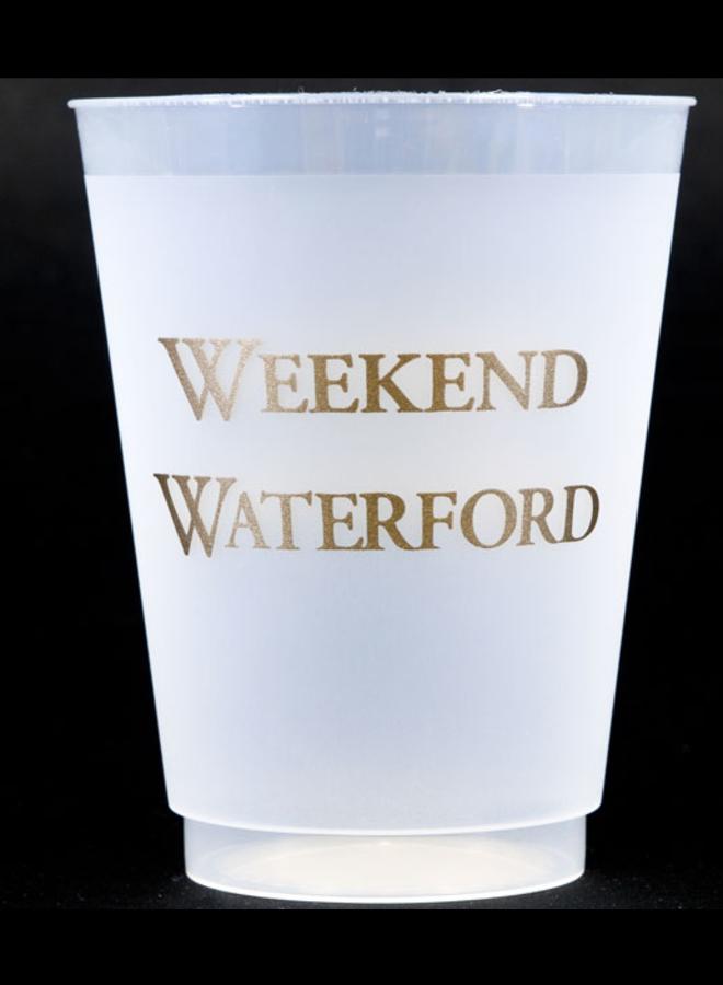 Shatterproof Cups - Weekend Waterford Gold