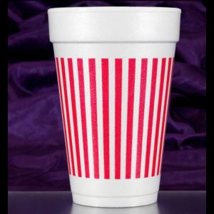 Print Appeal Foam Cups - Red Stripe