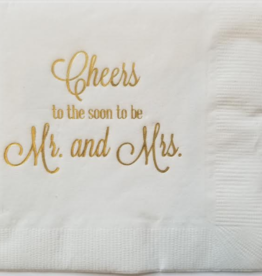 Print Appeal Cocktail Napkin - Soon to be Mr & Mrs - Pkg of 15
