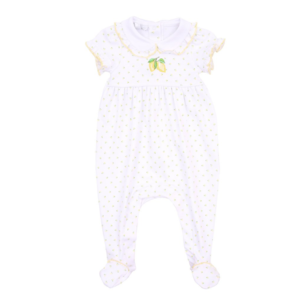 Magnolia Baby Make Lemonade Emb S/S Footie