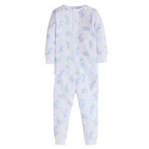 Little English Blue Bunny Pajamas