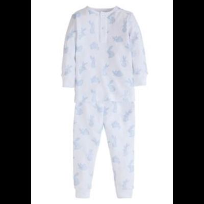 Little English Blue Bunny Pajamas