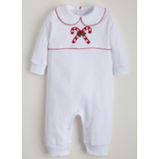Little English Christmas Playsuit- candy cane