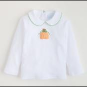 Little English Crochet Pumpkin Shirt