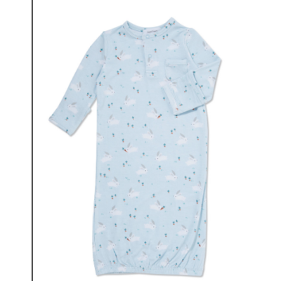 Angel Dear Blue Baby Bunnies Gown  0-3M