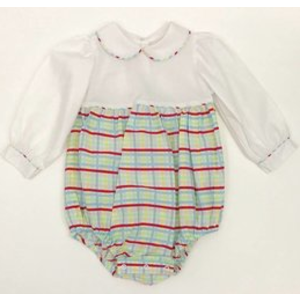 Lullaby Set Plaid Long Sleeve Bubble