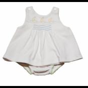 Lullaby Set Knit Smocked Sailboat Jumper