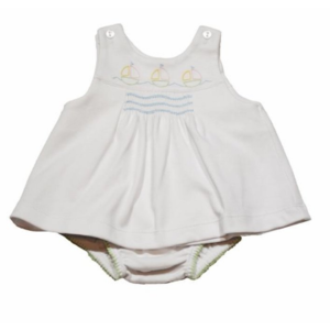 Lullaby Set Knit Smocked Sailboat Jumper