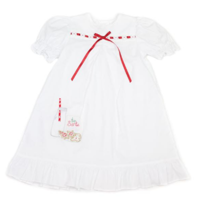 Lullaby Set White Christmas dress with cookies