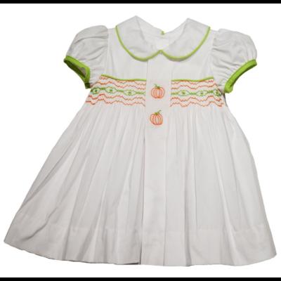 Lullaby Set Pumpkin Smocked Dress