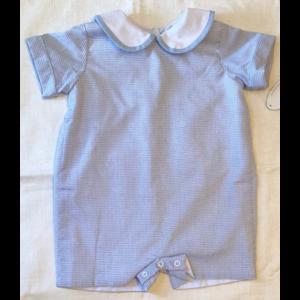 Lullaby Set Blue Windowpane Play suit