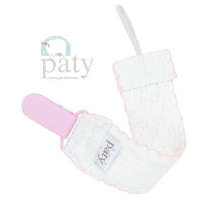 Paty Pacifier Clip - Pink