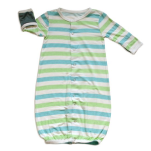 Silkberry Baby Converter Gown green stripe