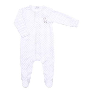 Magnolia Baby Deer footie grey