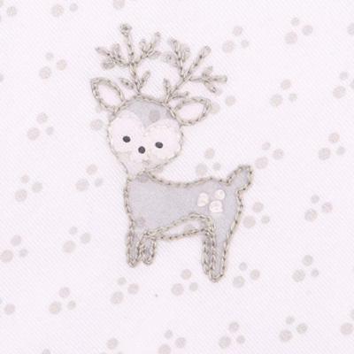 Magnolia Baby Deer footie grey
