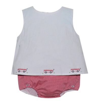 Remember Nguyen Red Wagon Diaper Set