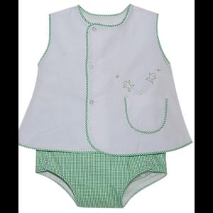 Remember Nguyen Green Frog Diaper Set