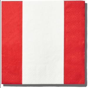Boston International Luncheon Napkin - Red Stripes
