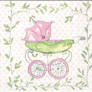 Boston International Cocktail napkin pink buggy