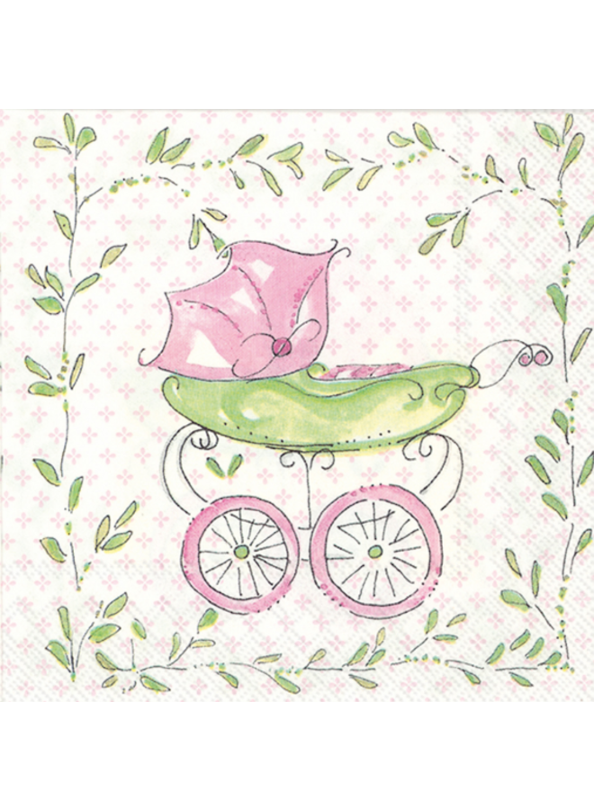 Cocktail napkin pink buggy